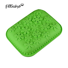 Rectangle Snow Flower Shaped Non-stick Large Cake Pan DIY Bakeware Silicone Baking Mold for Dessert, Mousse, and Bread