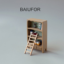 BAIUFOR Miniature Figurines wood Ladder Stairs Mini Garden Decor DIY Terrarium Landscape Decoration Doll House Accessories