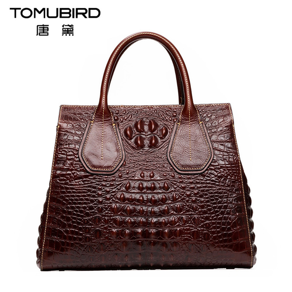 TOMUBIRD New Fashion women handbags genuine leather Embossed crocodile pattern shoulder bag Messenger Bags ms crossbody bag 2016 new style women handbags elegant stone crossbody bag fashion embossed lady s genuine leather portable bags