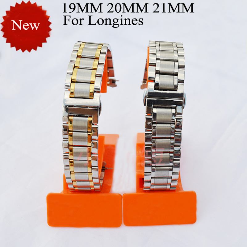 Luxury Brands Watchband,Best Promotion Watch straps 19mm 20mm 21mm Stainless Steel Watchband Strap For LONGINE SWatch Men Series