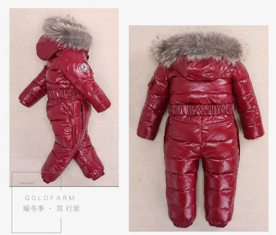 2418fec84 Detail Feedback Questions about 30 Degree Winter Children Jumpsuit ...