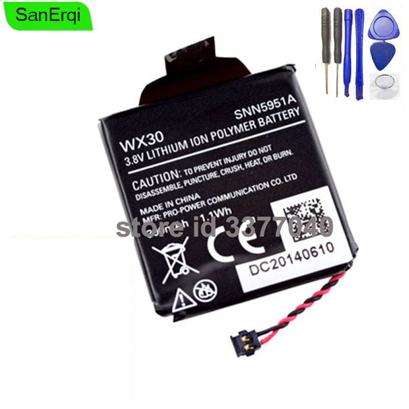 Para Motorola 360 1st Gen Substituição Da Bateria Bateria para MOTO 360 WX30 SNN5951A Relógio Inteligente