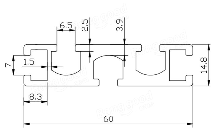 Machifit 1560 300mm Aluminum Profile Extrusion Frame for CNC