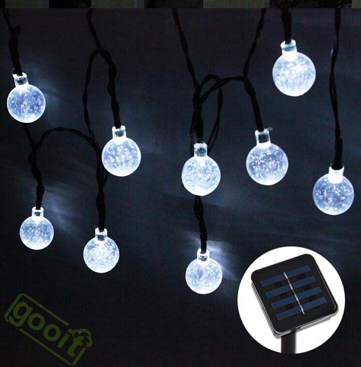 20leds 48m christmas snow ball fairy led solar powered light aeproducttsubject aloadofball Images
