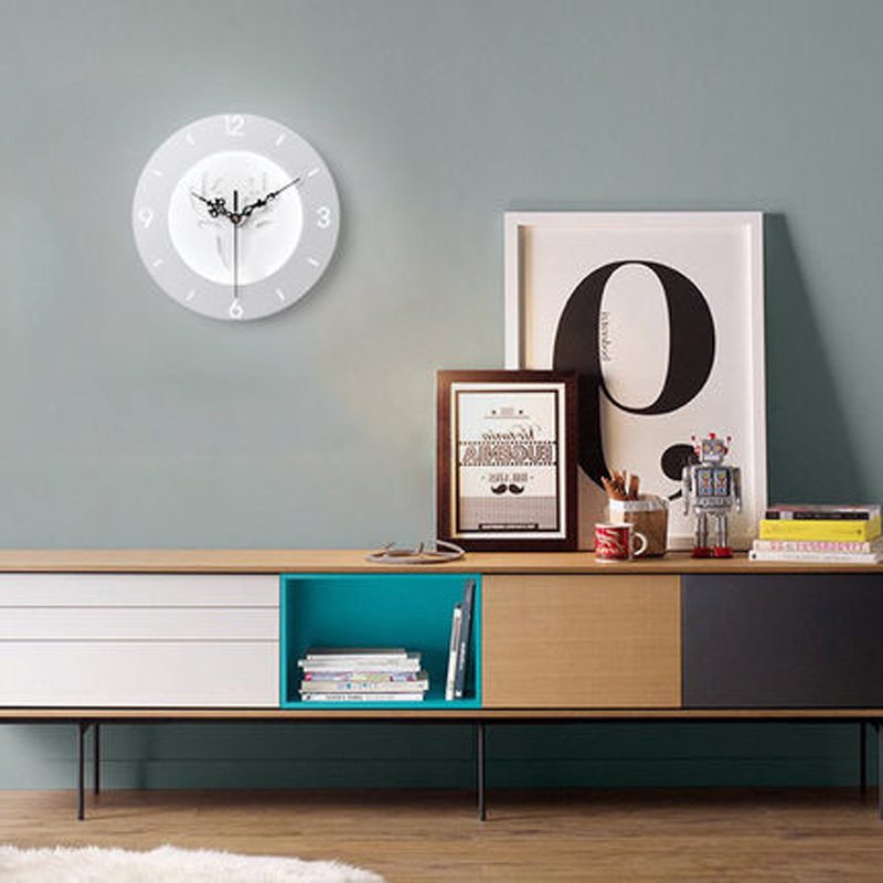 купить Diameter 25cm Clock Wall lamp LED Innovation Acrylic Bedroom Modern Simple Stairs Aisle Balcony Children Room Bedside Lamp по цене 2534.95 рублей