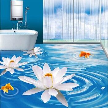 beibehang Waterproof floor mural painting louts PVC waterproof Custom Photo self-adhesive 3D 3d