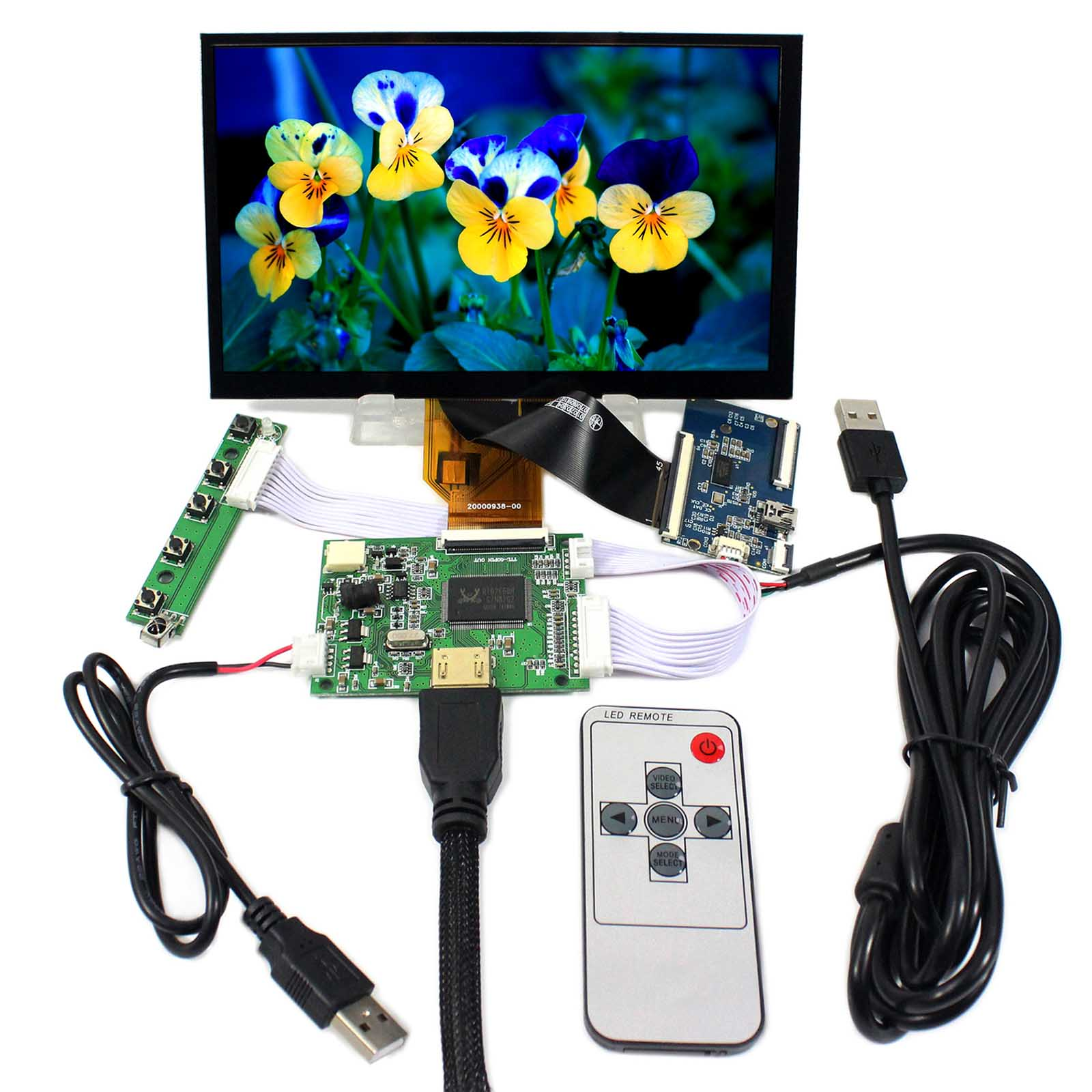 HDMI LCD Controller Board With 7inch 800x480 AT070TN92 AT070TN90 Capacitive Touch Panel 5inch lcd screen with capacitive touch panel 800x480 40pin lcd display