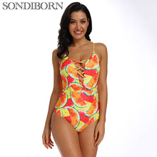 Sexy One Piece Swimwear Women Swimsuit Cross Monokini Push Up Bathing Suit Print Bodysuit Mayo Beachwear Female Summer Beach цена