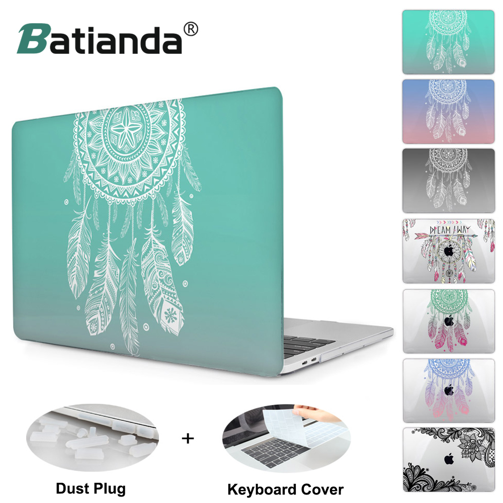 Colorful Gradient Color Cover Sleeve Case For Apple Macbook Pro Retina 13.3 12 15.4 Air 13 11 New Pro 13 15 Dream Catcher A1706 redlai plant floral print hard case for apple macbook pro retina 13 3 12 15 4 sleeve air 11 13 3 new pro 13 15 a1706 laptop case