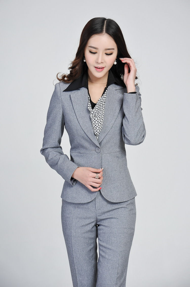 Merveilleux Formal Ladies Gray Blazer Women Business Suits Formal Office Suits Work  2017 Spring Winter Fashion Women Pant And Jacket Sets In Womenu0027s Sets From  Womenu0027s ...