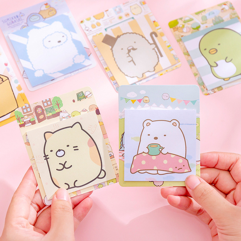 Kawaii Sumikko Gurashi Cute Sticky Notes Memo Pad Diary Stationary Flakes Scrapbook Decorative Sticky Notes