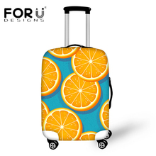 FORUDESIGNS Fashion Fruits Pattern Luggage Covers for 18-30 Inch Suitcase Thick Elastic Orange Suitcase Cases Travel on The Road