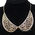 Ornate Vintage Gold Filigree Peter Pan Collar Swirl Chain Choker Necklace Gift Jewelry 2017 New