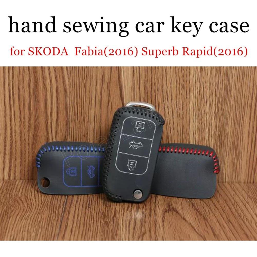 Only Red for SKODA Fabia(2016) Superb Rapid(2016) Spaceback(2016) yeti(2016) Superb Derivative(2014) Leather Car Key case