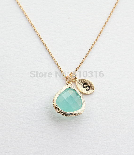 brand jewelry gold silver letter s crystal necklace bridesmaid gifts collier initial boho necklace pendants steampunk