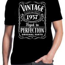 3045dc88e 80th Birthday Vintage Aged To Perfection 1937 80 Years Old Gift Present T  Shirt Cool Casual