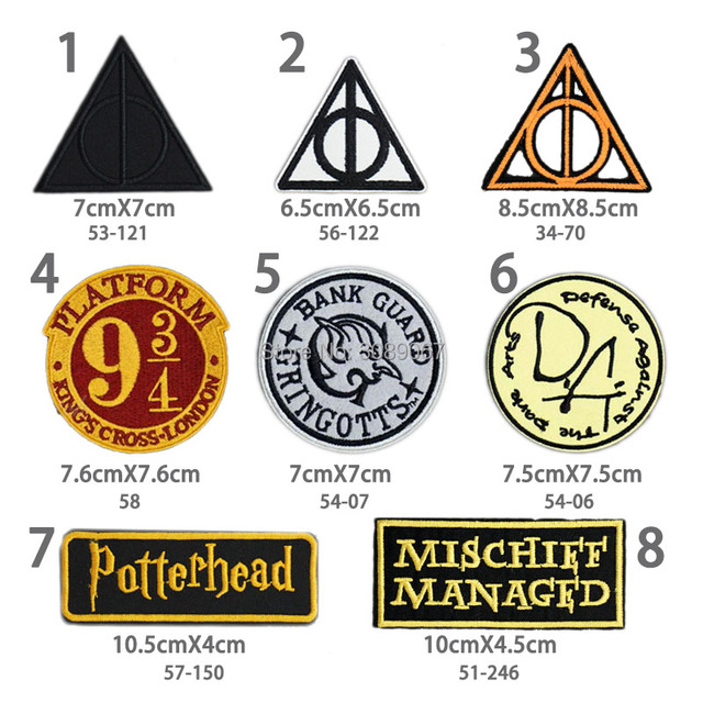 movie harry potter symbol deathly hallows embroidered
