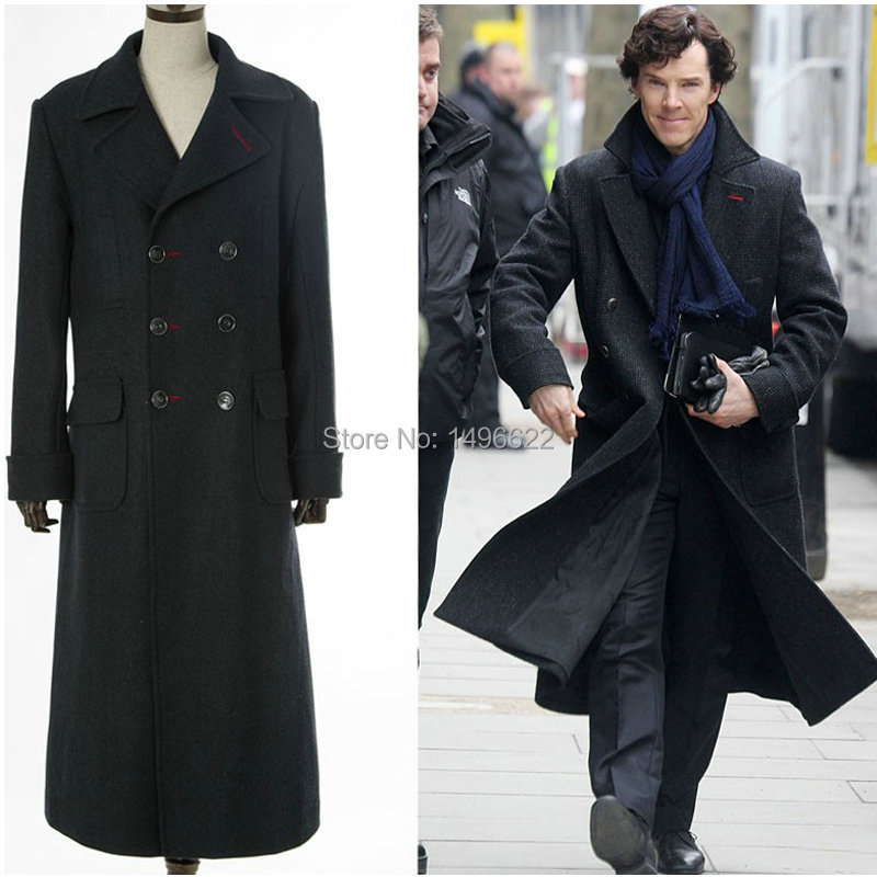 Long Wool Coat Cosplay Holmes Sherlock Mens Cape Tv Winter Jacket pEtxBFqw
