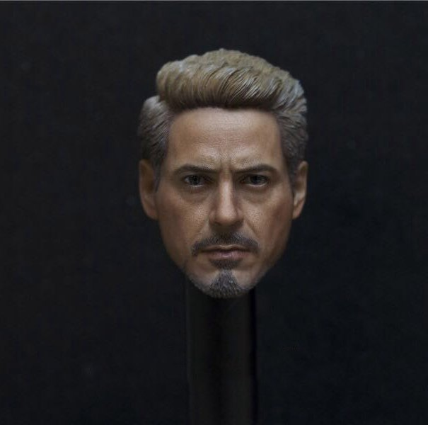 1 6 scale figure doll accessory Iron Man Tony Stark head sculpt for 12 action figure
