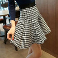 Spring Summer Woman Skirt Knitted Elastic High Waist Mini Skirt Plus Size Pleated Flared Short Skirts Ladies Tutu Saia For Woman