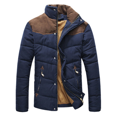 2019 new Winter Jacket Men Warm Winter  Casual Parkas Cotton Stand Collar  Coats Male Padded Overcoat Outerwear Clothing(China)