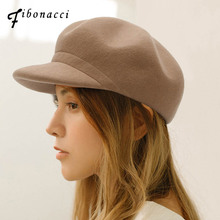 Fibonacci Fedoras High Quality Fashion Wool Felt Octagonal Solid Color Women Hat Fedora Equestrian Cap
