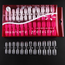 288pcs Square Ultra-Thin Clear Acrylic False Nail Tips ABS material Breathable Full Cover Matte Surface -0.1mm  Fake