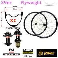 345 г свет Вес 29 дюймов карбоновых бескамерная автомобильная шина готова для 29er колесо горного велосипеда XC горный велосипед набор колес с