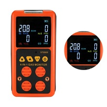 4 in 1 Gas Detector O2 H2S CO Combustible Carbon Monoxide Oxygen Flammable Gas Analyzer Toxic Gas Harmful Gas Leak Detector цена