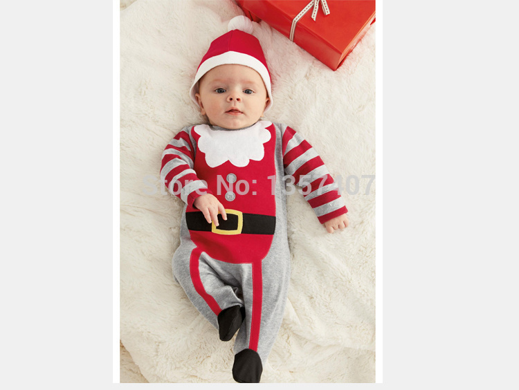 2014 new year vestidos merry christmas baby girl and boy romper girl headband leotard boy santa claus jumpsuit with in clothing sets from mother kids on - Merry Christmas Baby