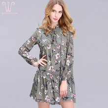2017 New Arrival Spring Women s Clothing O Neck Fashion Brief Brand Floral Print Plus Size