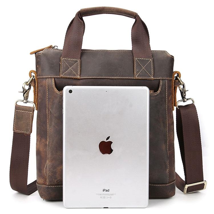 Notebook Schulter Leder Taschen Bussiness Maheu Horse Crazy Brown Handtasche Hand Vintage Griff Tasche Mann Aktentasche Echt Mit Langlebig wpxwqRXz4