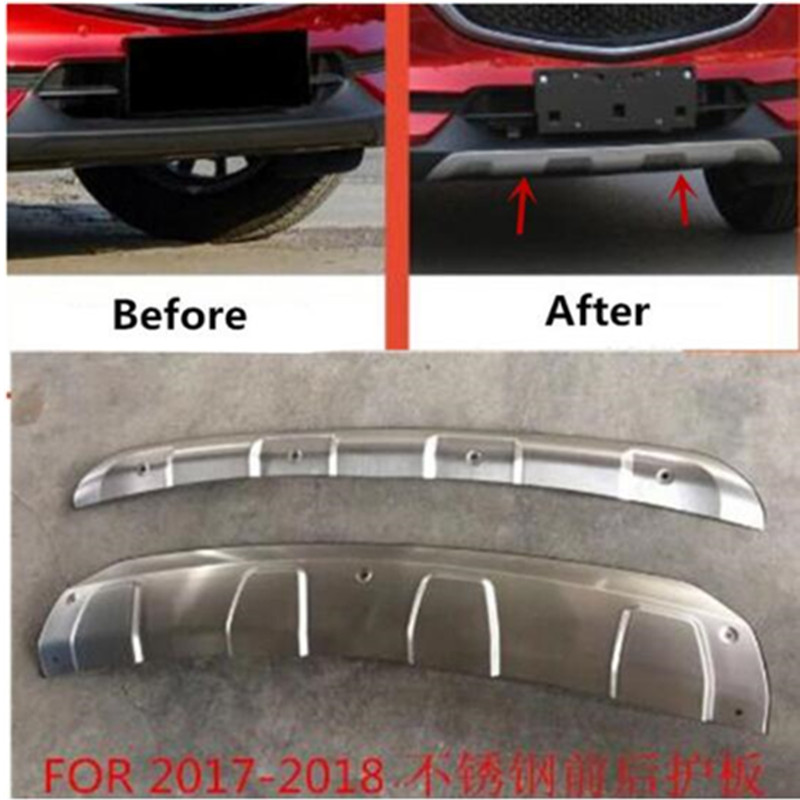 Automobiles & Motorcycles Rear Bumper Diffuser Protector Guard Skid Plate For New Mazda Cx-5 Cx5 2017 2018 Products Are Sold Without Limitations Auto Parts Modeling Stainless Steel Front