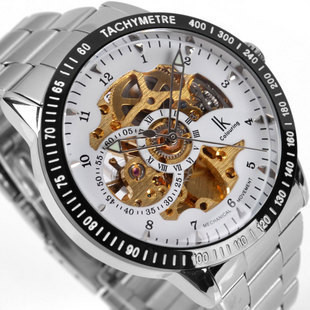 Sale ik double faced fully automatic mechanical business luxury automatic watch steel male casual gift Classic