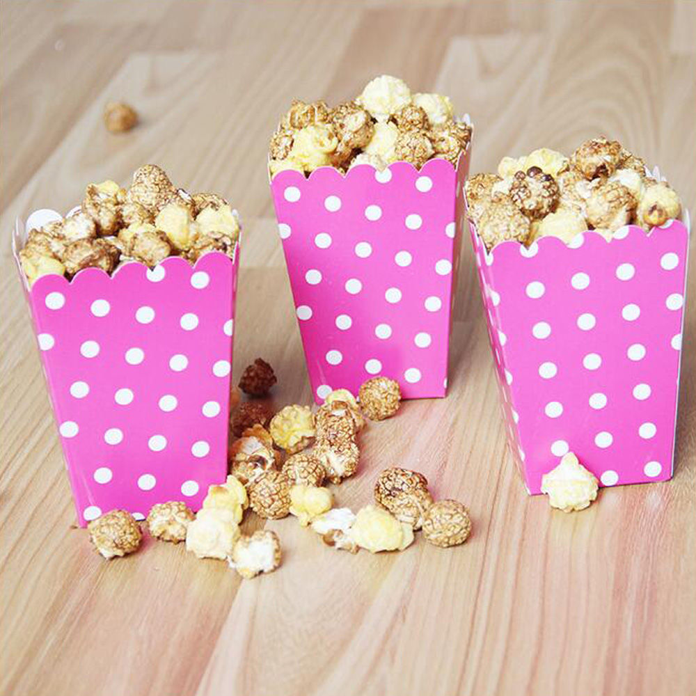New 12pcs Mini dot Paper Popcorn Boxes Candy Cookie Chocolate ...