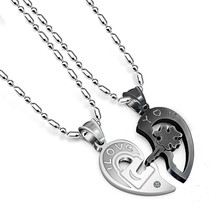 MINCN Harajuku accesories punk wind key necklace  Couple confirmation gift Stainless Steel Mens High-end quality gifts