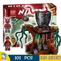 101pcs Ninja New 10578 Vermillion Attack DIY Model Building Blocks Children Toys Compatible with Lego