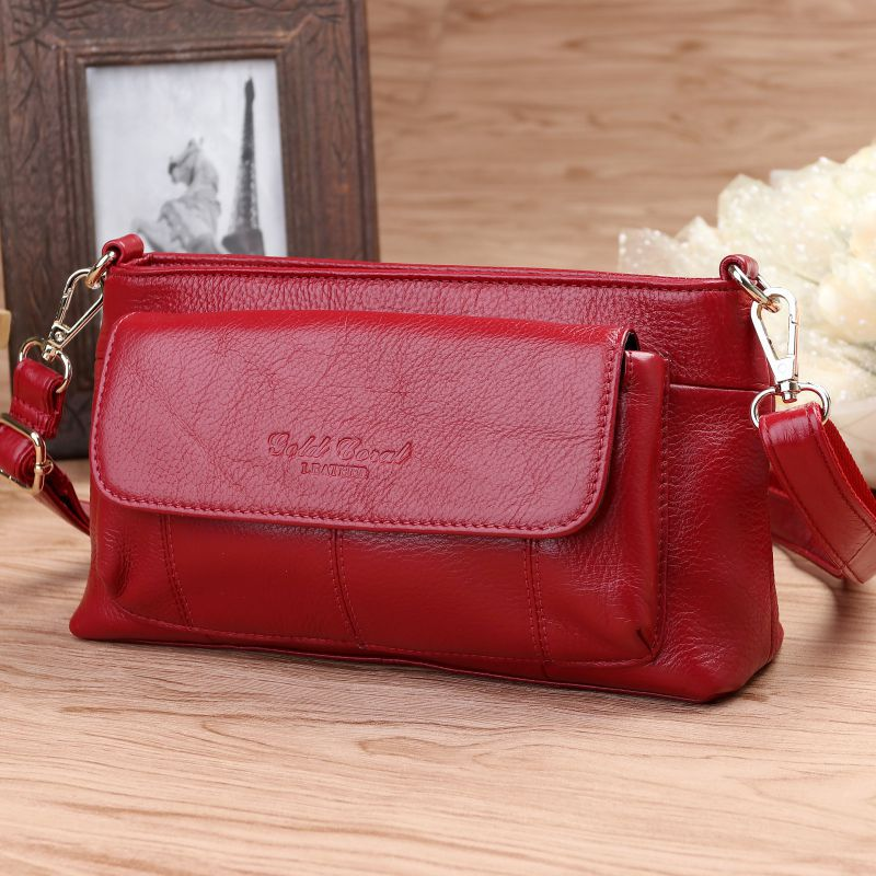 цена на Vintage Women Genuine Leather Handbags Fashion Brand Cow Leather Messenger Shoulder Bags Bolsas Feminina High Quality Phone Bag