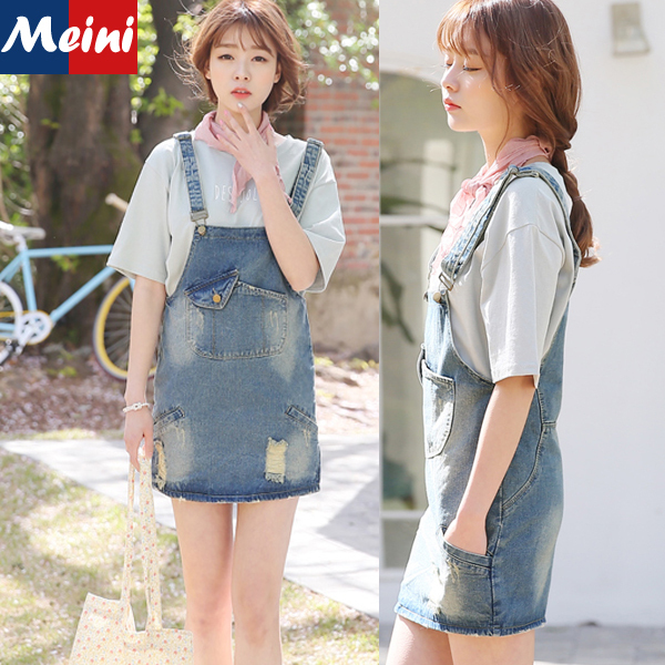 764c2b62a271 2015 New Preppy Style Korean Cute Rompers Jeans Overalls Girls Sweet Summer  Fashion Ripped Loose Jumpsuit Denim Women