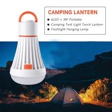 Портативный кемпинговый светильник, 4 режима AAA/18650, 6Led, 3 Вт, вспышка, светильник фонарь, фонарики, магнитная Подвесная лампа, светильник для работы, лампа для кемпинга
