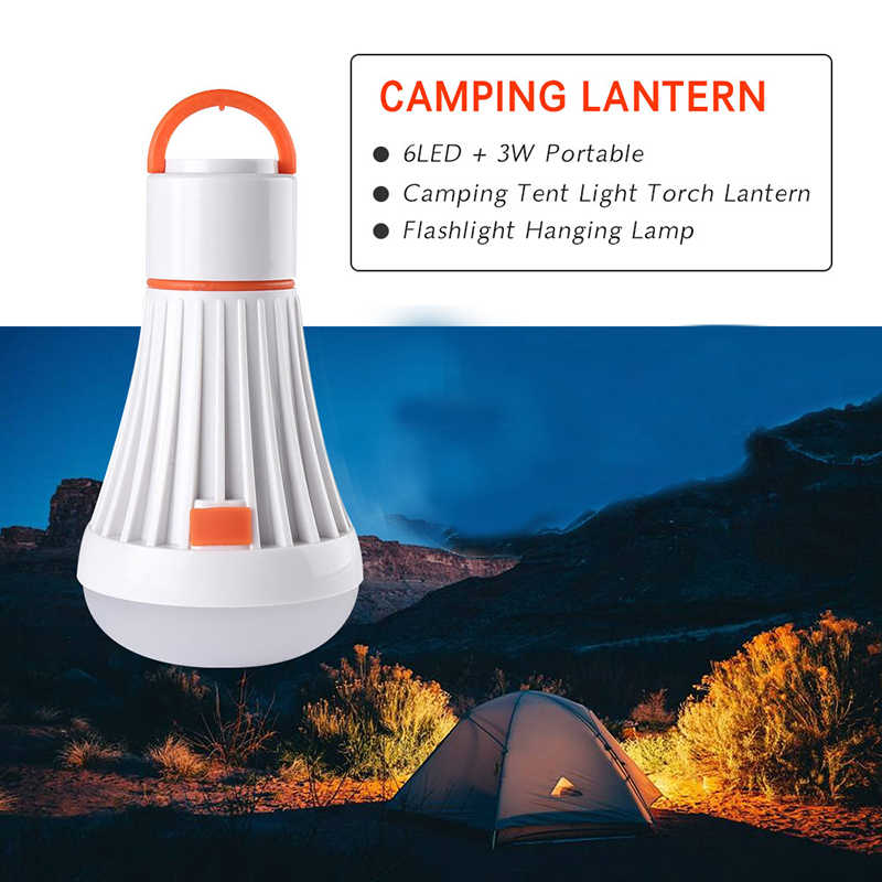 Portable Camping Light Use AAA/18650 4Modes 6Led 3W Flashlight Torch Lanterns Magnet Hanging Lamp Task Lighting For Camping Lamp
