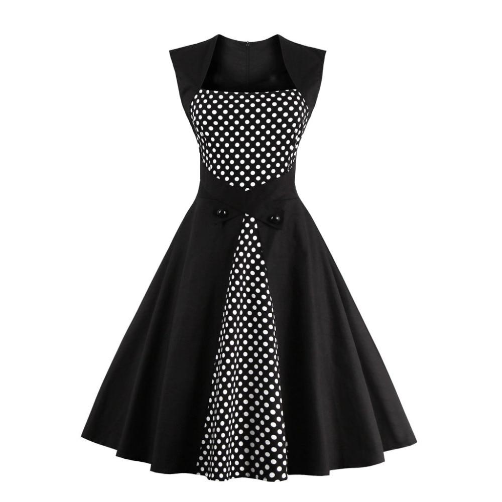 White 50s style dresses