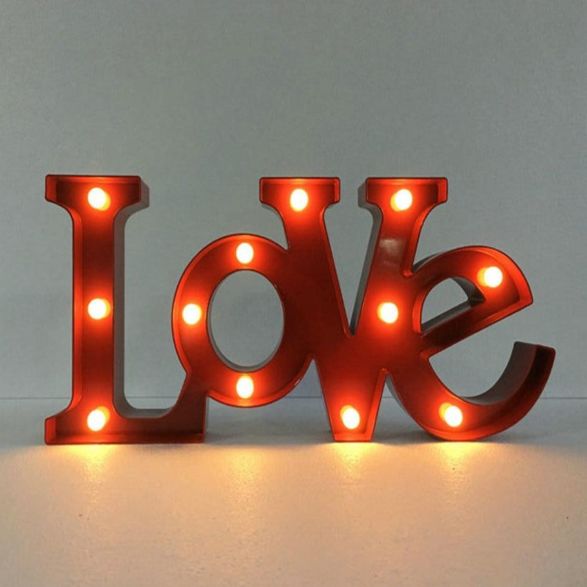 personalizado 12 wide plastico amor 3d led letreiro letras do vintage letras sinal para aderecos de