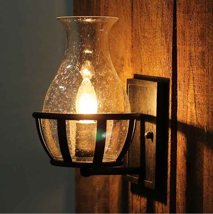 Fashion decoration antique Wall lights Glass Vase Shape vintage lantern kerosene castle wall ...