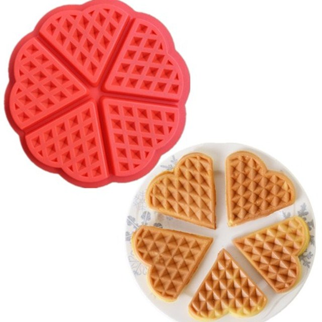 Dining Bar Silicone Waffle Molds Kitchen Baking Pan For In Pastry Chocolate Fondant Cake