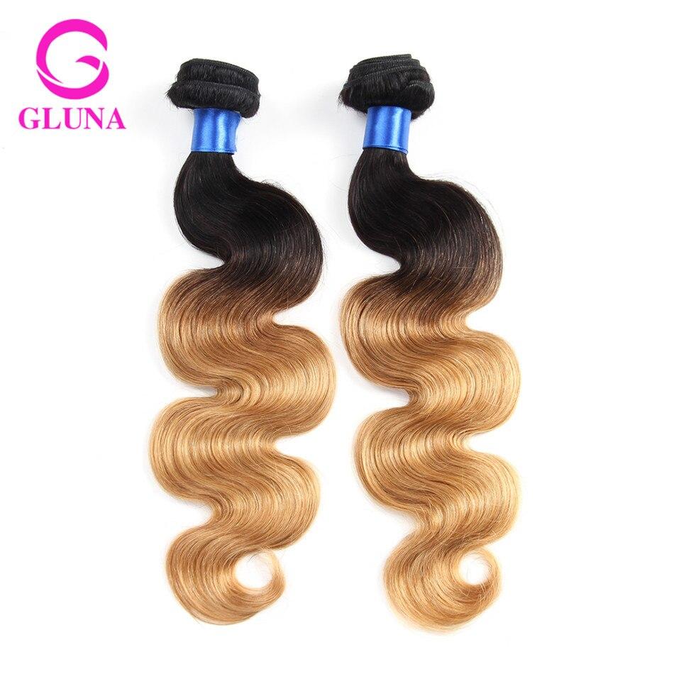 2Pcs ombre hair brazilian virgin hair body wave 1b 27 ombre human hair 8a human hair
