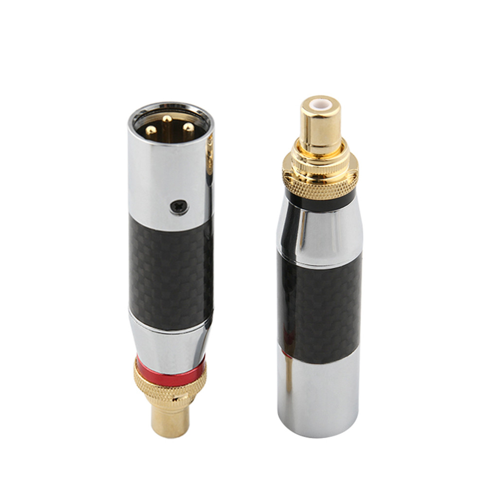XLR To RCA Female Speaker Plug XLR 3 Pin Male Audio Connector RCA Adapter Hifi Plug For DIY Microphone Audio Cable Balance Cable