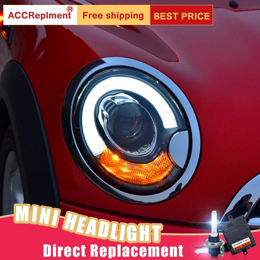 2 pièces LED Phares Pour BMW MINI R56 2007-2013 LED voiture feux Angel eyes xénon CACHÉ KIT antibrouillards LED Feux de jour