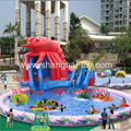 giant inflatable pool slide /inflatable water slide pool amusement park game fro kids and adults