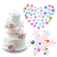 Water-Cake-Decoration Edible Flowers Topper Bakeware Cupcake Glutinous Rice-Paper Wedding-Party